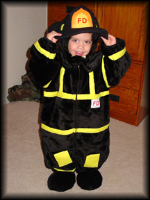 Andrew as a Fireman
